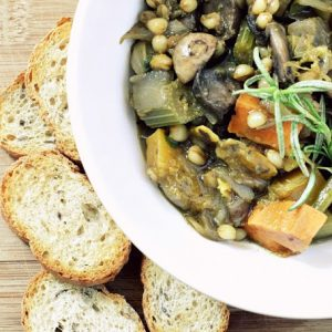 {EAT} Mushroom Wheatberry Stew