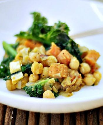 Chickpea + kale stew Recipe