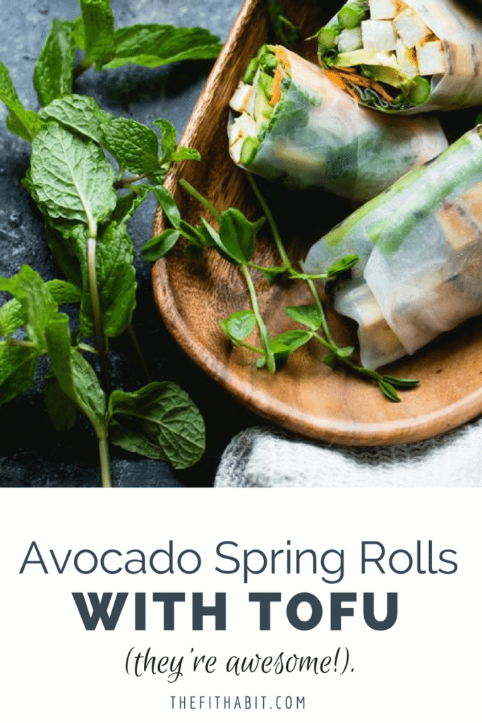 tofu spring rolls with avocado