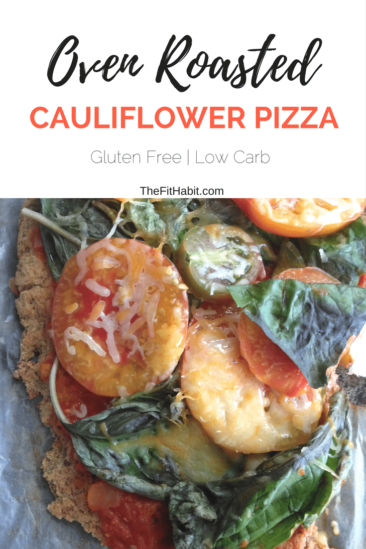 Oven Roasted Cauliflower Pizza gluten free low carb