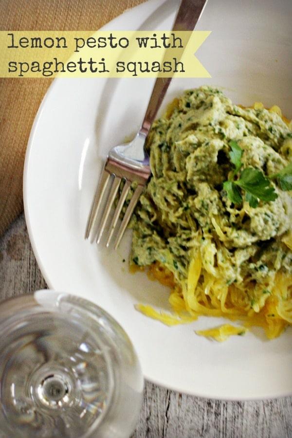 lemon pesto spaghetti squash