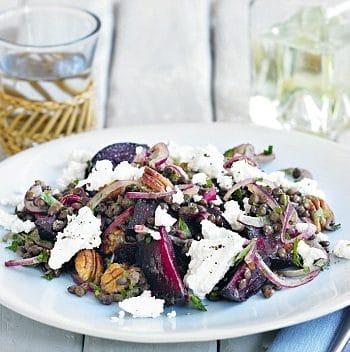 beet lentil salad