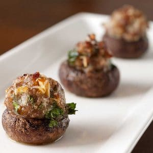 Low Carb Stuffed Mushroom Caps Recipe #NSNG