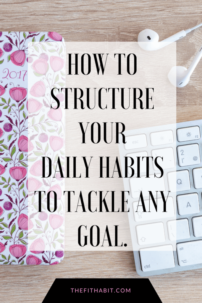 structured habits goal setting