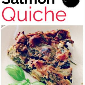 Paleo Salmon Quiche – high protein, low carb
