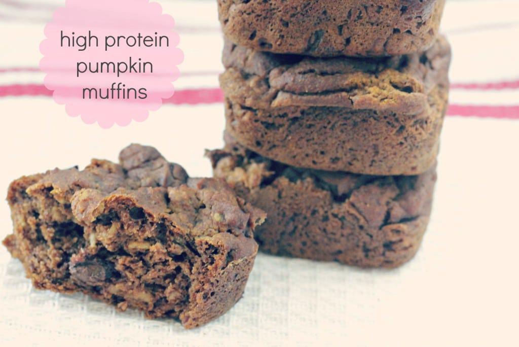 high protein pumpkin muffins