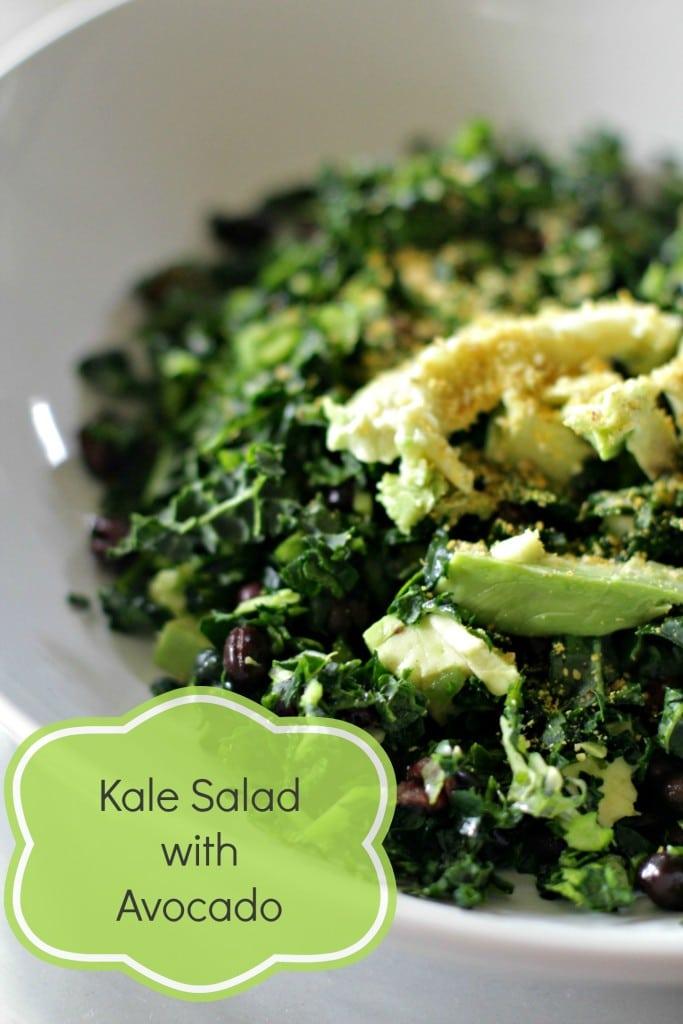 kale salad w avo