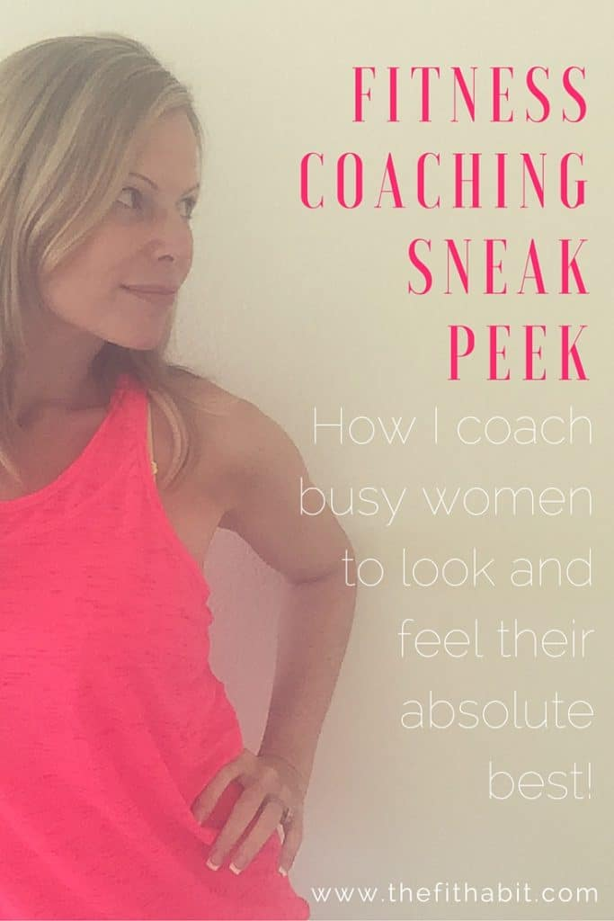 Fitness coaching for busy women