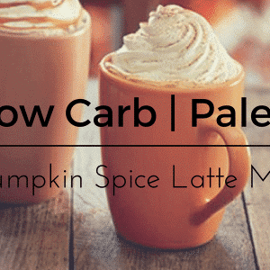 Healthy Pumpkin Spice Latte Mix