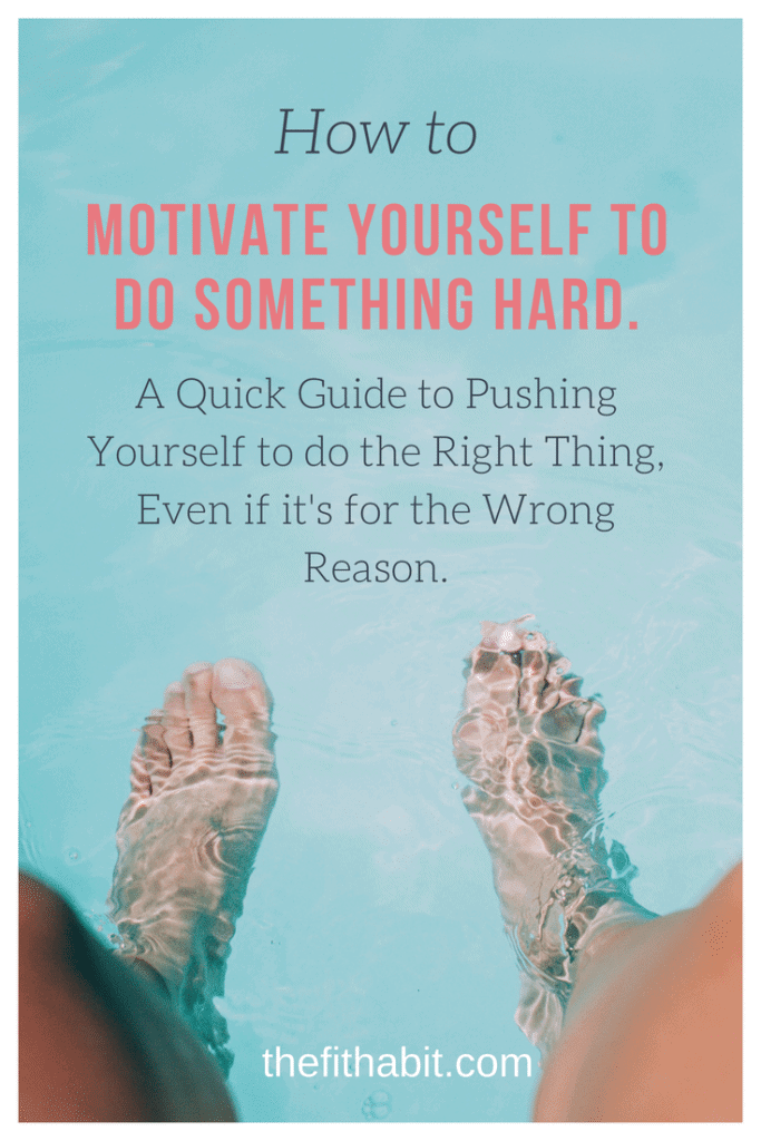how to push yourself to do hard things.