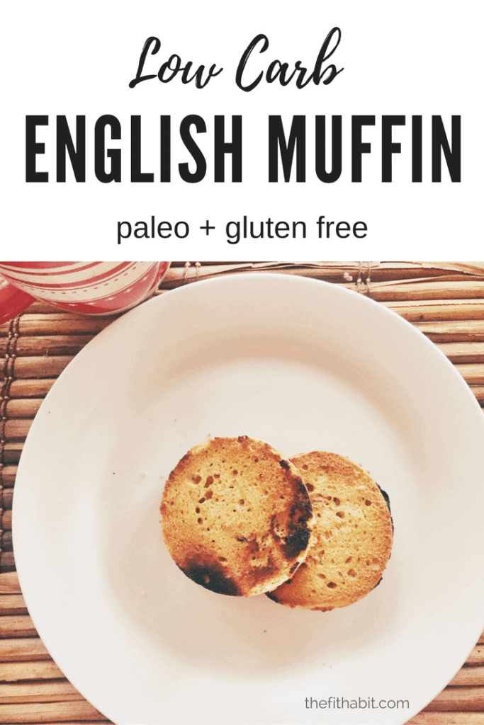 english muffin low carb, paleo, gluten free, healthy