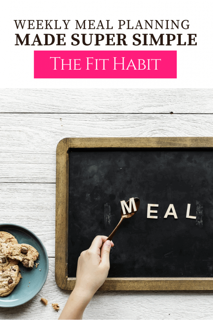 simple meal planning tempate