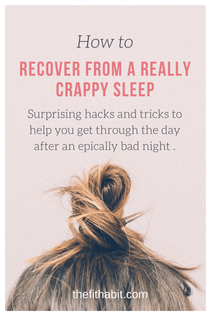 how to recover from a bad night sleep