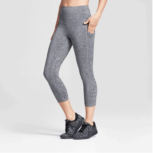 capri leggings gray highwaisted
