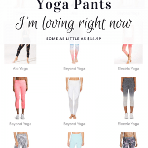 Affordable Summer Yoga Pants I love (starting at $14.99!)