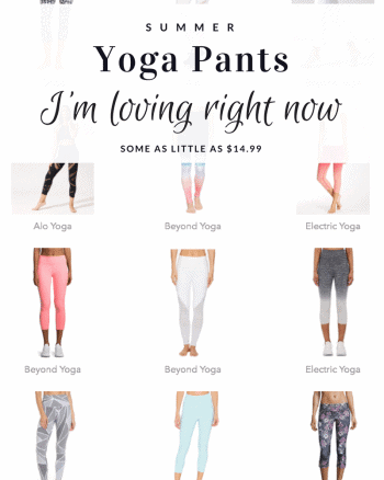 affordable yoga pants for summer