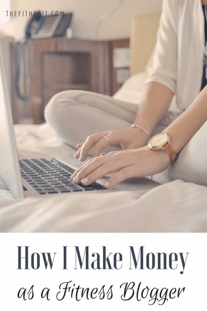 make money as a fitness blogger