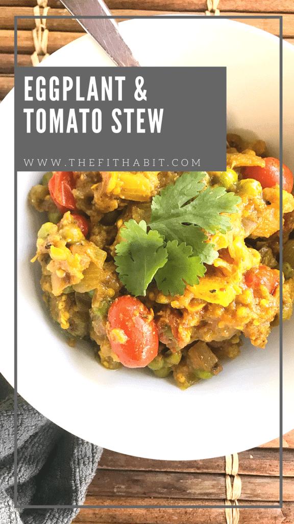 Vegan, vegetarian, paleo eggplant & tomato stew