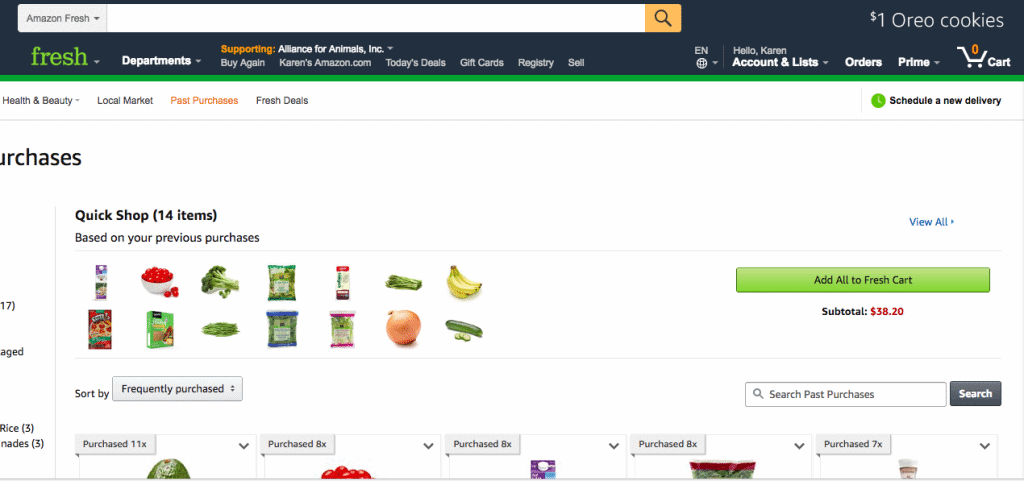save money amazon fresh
