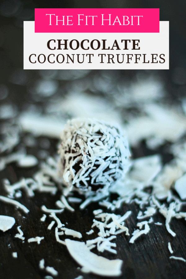 Coconut chocolate truffle recipe.