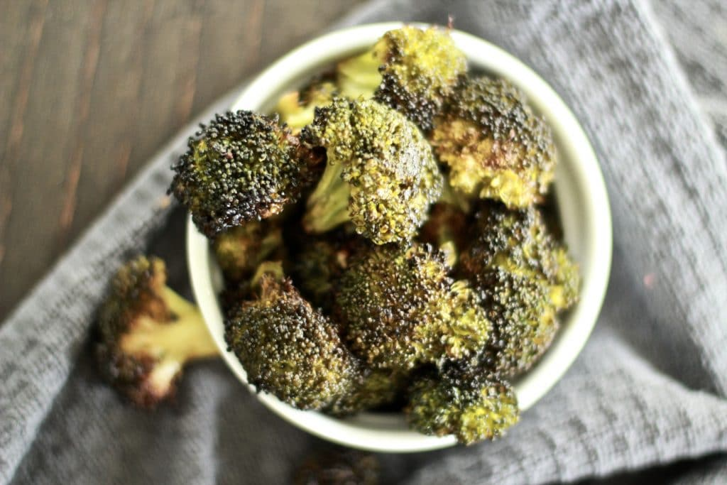 roasted broccoli in the oven